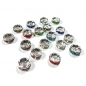 Preview: Strass Spacer 8 mm, bunt (18 Stk.)
