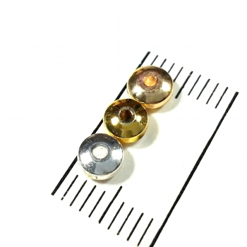 Hämatitlinsen 14K vergoldet 4 mm (light gold) (20 Stk.)